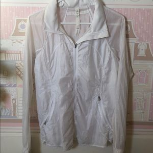 White Lululemon waterproof Jacket raincoat